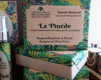 """SOAP natural cold 110 g """"Pine"""" Spirulina and essential oils of cedar and Siberian pine"""