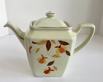 Vintage Hall Jewel Tea Autumn Leaf 6 Cup Teapot