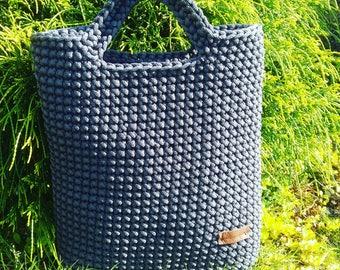 Crochet rope bag, handmade rope bag, tote bag, woven handbag,casual handbag,shopping bag, handmade crochet bag, crochet bag,gift for her