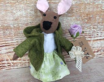 Easter bunny, Felt Rabbit, Miniature rabbit, gift for easter.