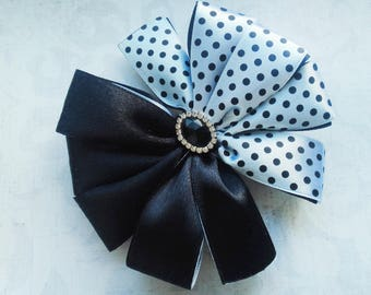 Black and White Bow Hair Bow Bow for princess For girls Hair clips bows Beautiful bow Girl party Gift to the sister Gift to friend For babe