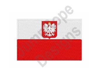 Poland National Flag - Machine Embroidery Design