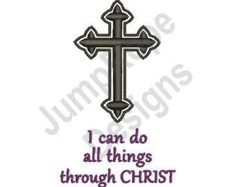 Black Bold Crucifix Christ - Machine Embroidery Design