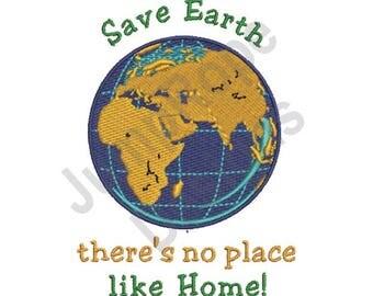 Save Earth - Machine Embroidery Design