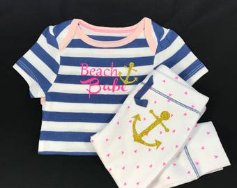 Beach Babe baby girl outfit
