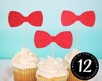 Bow Tie Cupcake Toppers Mr Onederful Birthday Little Man Baby Shower Mr Onederful Toppers Boy First Birthday Boy Baby Shower 1st Birthday