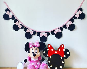 Its a Girl Minnie Mouse Bunting