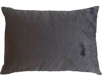 Minky Toddler Pillowcase 13x18 | Dark Grey