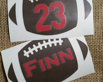 Football decal, Name decal, Yeti football custom decal, personalized football with number, football Name sticker, football mom decal