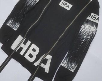 HBA Spellout Long Sleeve Shirt Womens Size Medium Designer Fashion