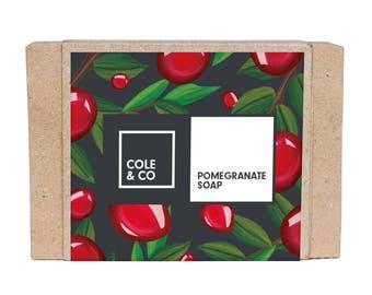 Welsh Handmade Exotic Pomegranate Soap