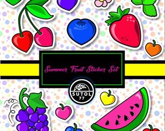 Summer Fruit Digital Sticker Set