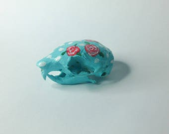 Hand painted squirrel skull