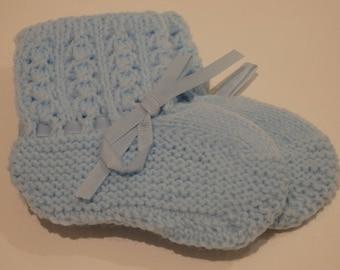 Blue Crochet Booties