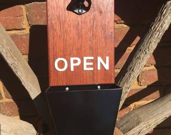 Timber Bottle Opener/Wall Bottle Opener/Custom Bottle Opener