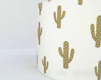 Gold Cactus lampshade