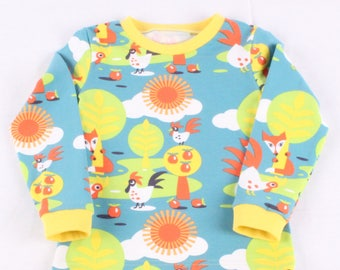 SHORT SLEEVE t shirt for boys and girls with farm animals / Scandi clothing / Colourful t-shirt with SHORT sleeves / Retro clothes for boys