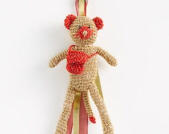 Keychain: amigurumi crocheted