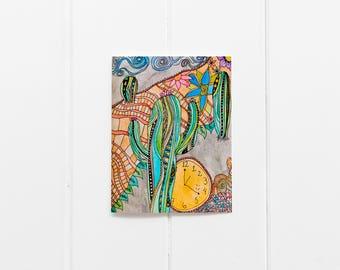 Cactus Thank You Card/Set of 6 Notecards/ Cactus Notecard Set/Blank Greeting Card Set/Cacti Print/Birthday Card Set/Desert Art Print/CC-02