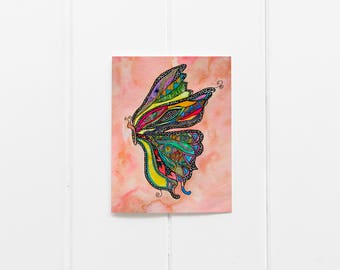 Thinking of You/Butterfly Notecard Set/Pretty cards/Everyday Cards/Watercolor Notecards/ Butterfly Thank you Card/ Blank Card Set/CC-25