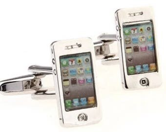 I Phone Cufflink Set Boxed