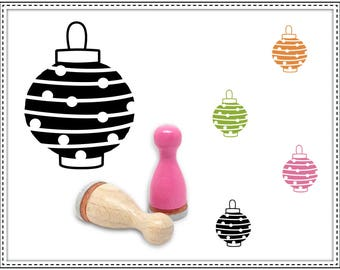 Rubber stamp DOTTED CHINESE LANTERN Ø 12 mm