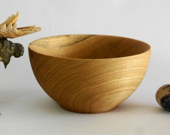Wooden Bowl, Soup Bowl, Gift for her, Gift for Him, Wedding Gift, Hand Turned Bowl, Fruit Bowl