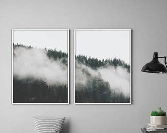 Forest Prints, Set Of 2, Forest Wall Art, Nature Prints, Forest Art, Woodland Prints, Forest Photography, Scandinavian Wall Art, Nature Art