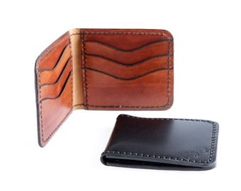 Bank leather card holder