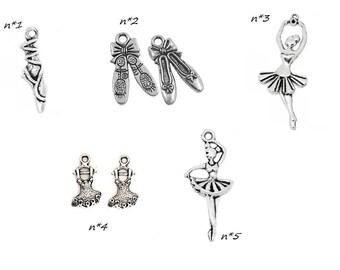 charm individually theme dancing dancer ballerina tutu opera / prima ballerina dancer silver