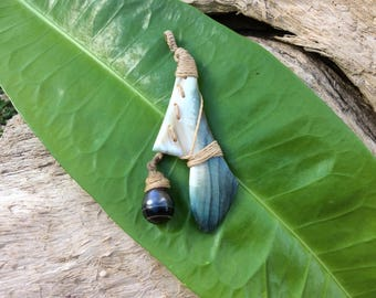 Pearl burgau and Tahitian black pearl pendant