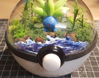 Pokèglobe 100mm: Oddish - Pokemon Terrarium