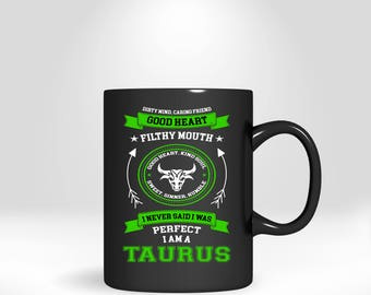 Star Sign Taurus Mug, Funny Coffee Cup, Gift For Mom, Wife, Dad Or Husband, Novelty Drinkware