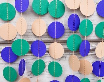 Blue and Eucalyptus Green garland, Beige garland, Baby shower, Birthday garland, Photo background, Baby shower, Eucalyptus weddings
