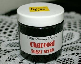 Charcoal Sugar Scrub
