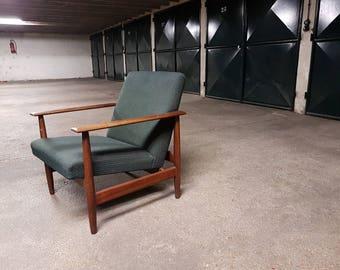 Vintage scandinavian mid century 1950 Svane armchair by Rastad & Relling