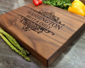 "Personalized Chopping Block 12x15x1.75"" - Engraved Butcher Block, Custom Chopping Block, Housewarming Gift, Wedding Gift #31"