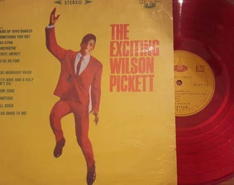 The Exciting Wilson Pickett Rare Red Vinyl  CSJ 558 Taiwan Release