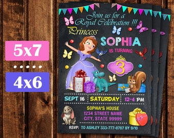 Sophia the First Invitation, Sophia the First Birthday Invitation, Princess Sophia, Sophia the First Birthday Party Printable Sofia.