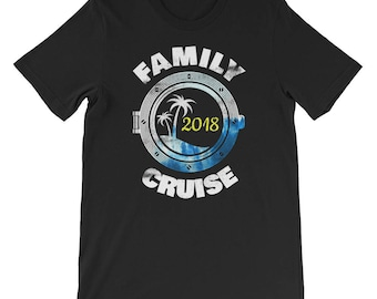 Family 2018 Cruise Vacation Beach Couples Matching Coordinating Summer Spring Winter Carnival Royal Caribbean Short-Sleeve Unisex T-Shirt