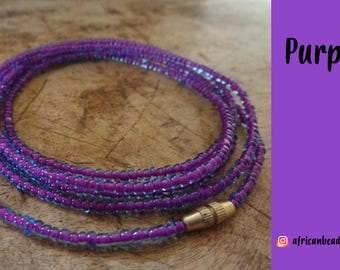 Royal Purple - Waist Beads - Belly Chain - Belly Beads - African Waist Beads