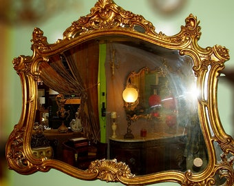 Carved Wood Mirror Etsy