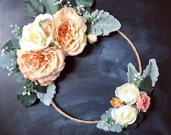 Romantic Hoop Wreath