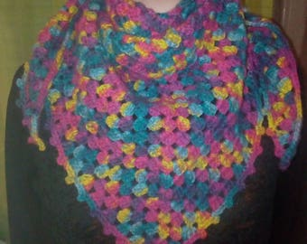 Gorgeous scarf / colorful handmade crochet
