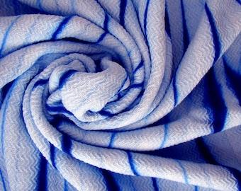 Custom Dyed Beach Towel, Blue beach towel, Beach Towel, Batik dyed beach towel, handmade Beach Towel, light beach towel, Thin beach towel