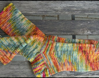 handknitted socks women's size UK 7,5-8 / US 9,5-10