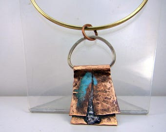 copper brass Choker necklace
