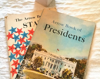 1963 and 1972 Arrow Books: Book of Presidents/Book of States