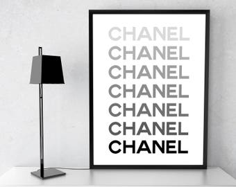 Coco Chanel Decor, Fashion Wall Art, Fashion Poster, Chanel Wall Art, Coco Chanel print, Coco Chanel Poster, Chanel Inspired. Free shipping.