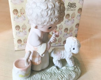 Vintage Precious Moments His Sheep Am I Figurine E-7161